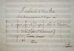 Deux compositions d'Auguste Trocquet pour la Maison de Saint-Denis sous l'Empire..