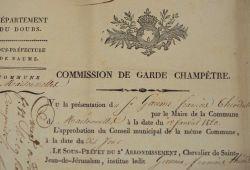 Commission de garde champêtre dans le Doubs, en 1820..