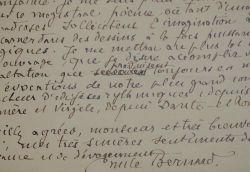 """Belle lettre d'Emile Bernard sur l'illustration de """"La fin de Satan"""" de Victor Hugo.. Emile Bernard (1868-1941) Peintre, ami de Van Gogh et Gauguin, ..."""