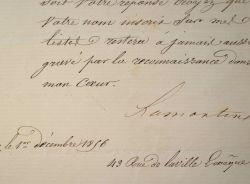 Lamartine préfère la cordialité à la gloire.. Alphonse Lamartine (de) (1790-1869) Poète et homme politique.