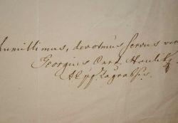 Lettre de l'évêque de Zagreb, le cardinal Haulik.. Juraj Haulík Váralyai (1788-1869) Evêque de Zagreb (1837), il devient le premier cardinal résident ...