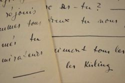 Lettre de Kisling à Carco écrite à un mois de l'armistice.. Moïse Kisling (1891-1953) Peintre.