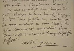 Félix Ziem encourage une candidature à l'association des artistes peintres.. Félix Ziem (1821-1911) Peintre français. Il se concentre, entre autres, ...