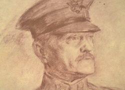 Pershing assistera à la commémoration du maréchal Fayolle.. John Joseph Pershing (1860-1948) Général des armées des Etats-Unis ; il reste, à ce jour, ...