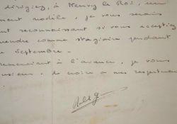 Lettre de jeunesse d'Alain Robbe-Grillet.. Alain Robbe-Grillet (1922-2008) Ecrivain, chef de file du Nouveau roman, membre de l'Académie française (il ...