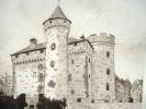 Gravure du château des Ternes dans le Cantal.