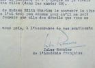 Jules Romains évoque le souvenir d'Edith Wharton.. Jules Romains (1885-1972) Ecrivain, poète et dramaturge, membre de l'Académie française (1946).