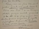 Villiers de L'Isle-Adam corrige les épreuves d'Axel.. Auguste Villiers de L'Isle-Adam (de) (1838-1889) Ecrivain, auteur de Contes Cruels et d'Axel.