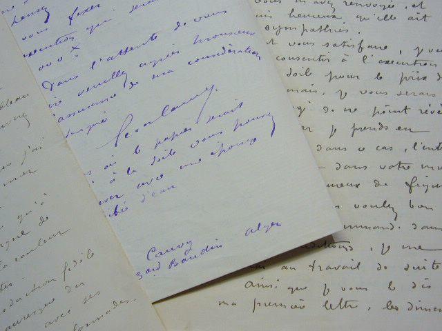 Léon Cauvy reçoit des commandes de tableaux. Léon Cauvy (1874-1933) peintre orientaliste, directeur de l'École des Beaux Arts d'Alger, de renommée ...