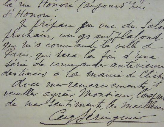 Eugène Beringuier explique son tableau « Charlotte Corday conduite au supplice ». Eugène Beringuier (1874-1949) peintre orientaliste, a peint la ...