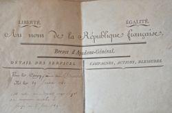 Brevet révolutionnaire signé par Bouchotte et Destournelles.. Jean-Baptiste Bouchotte (1754-1840) Ministre de la Guerre sous la Révolution (avril 1793 ...