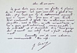 Julien Gracq dithyrambique.. Julien Gracq (1910-2007) Ecrivain, proche des Surréaliste, il obtint le prix Goncourt pour le Rivage des Syrtes, en 1951, ...
