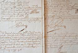 Archives du sieur de Hellemmes, gouverneur de la citadelle de Courtrai, au milieu du XVIIe.