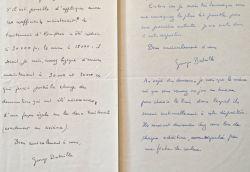 Deux lettres de Georges Bataille sur le lancement de la revue Documents.. Georges Bataille (1897-1962) Écrivain sulfureux.