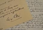Note autobiographique d'Yves Alix.. Yves Alix (1890-1969) Peintre et graveur.