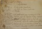 Réflexions sur les duels. Rare manuscrit d'époque révolutionnaire..
