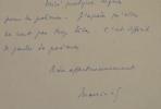 Lettre de Maurice Sachs à Louis Emié écrite en août 39.. Maurice Sachs (1906-1945) écrivain atypique, collaborateur puis déporté en camp de ...