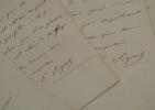 7 lettres du peintre Emile Signol.. Emile Signol (1804-1892) Peintre académique, élève du baron Gros, il exécuta des peintures décoratives pour de ...
