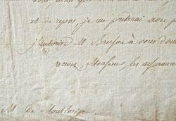 Montlosier reçoit une lettre de Finkenstein lui interdisant de publier..