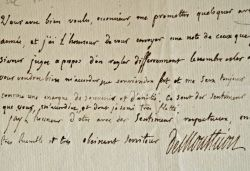 Le baron de Monthion demande des arbres de la pépinière du Roi.. Jean Baptiste Antoine Auget Montyon (baron de) (1733-1820) Philanthrope et ...