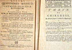 Deux thèses des XVIIe et XVIIIe siècles, dont une sur les hémorragies..