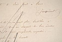 L'amiral Jacquinot répond à une sollicitation.. Charles Hector Jacquinot (1796-1879) Vice-amiral, il commande la Zélée lors du second voyage autour du ...