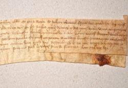 Charte de la guerre de cent ans à Saint-Auvent (Haute-Vienne)..