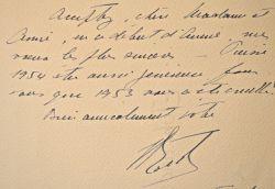 """Les voeux de Jean Borotra sur une estampe du Jeu du Volant.. Jean Borotra (1898-1994) Joueur de tennis, il est l'un des """"quatre mousquetaires""""."""