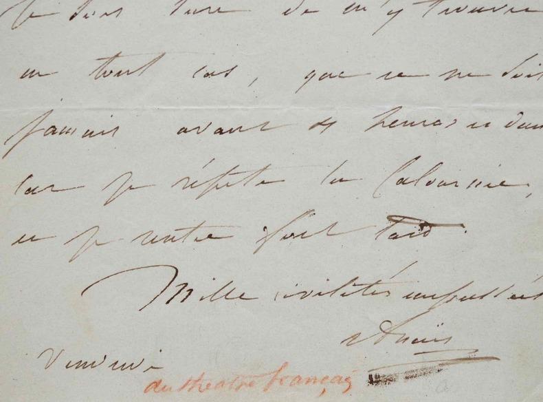 Mademoiselle Anaïs très occupée par les répétitions de La Calomnie de Scribe.. Anaïs Pauline Aubert dite Anaïs (Mademoiselle) (1802-1871) Comédienne, ...