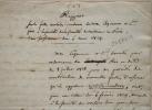 Rapport manuscrit sur les fosses d'aisance par Renauldin, Vauquelin, Léveillé et Husson.. Léopold Joseph Renauldin (1775-1859) Médecin, président de ...