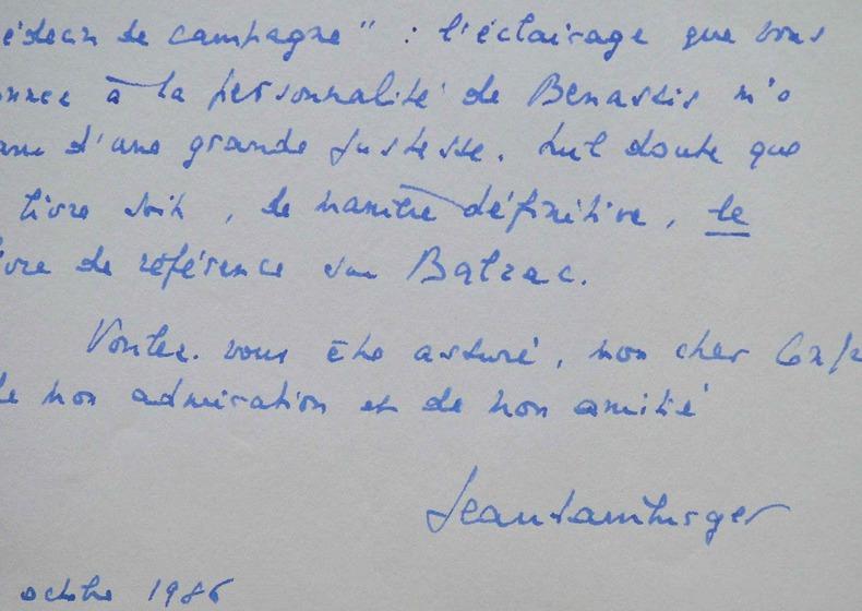 Jean Hamburger admire l'analyse de Félicien Marceau sur l'oeuvre de Balzac.. Jean Hamburger (1909-1992) Médecin et essayiste, membre de l'Académie ...