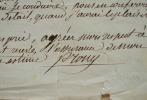 Prony recommande un piqueur pour la construction du canal de l'Ourcq. Gaspard Marie Riche Prony (baron de) (1755-1839) Ingénieur et hydraulicien, ...