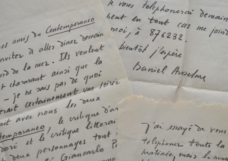 Daniel Anselme présente à Jean-Paul Sartre plusieurs personnalités communistes italiennes.. Daniel Anselme (1927-1989) Romancier et journaliste ...