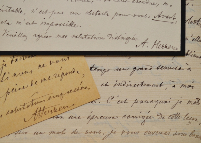 Alexandre A. Herzen veut faire publier un texte de son maître, Moritz Schiff.. Alexandre Alexandrovitch Herzen (1839-1906) Physiologiste suisse ...