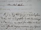 Louis Hersent recommande le peintre Tinthoin auprès d'Abel de Pujol.. Louis Hersent (1777-1860) Peintre néoclassique, portraitiste, élève de David, ...