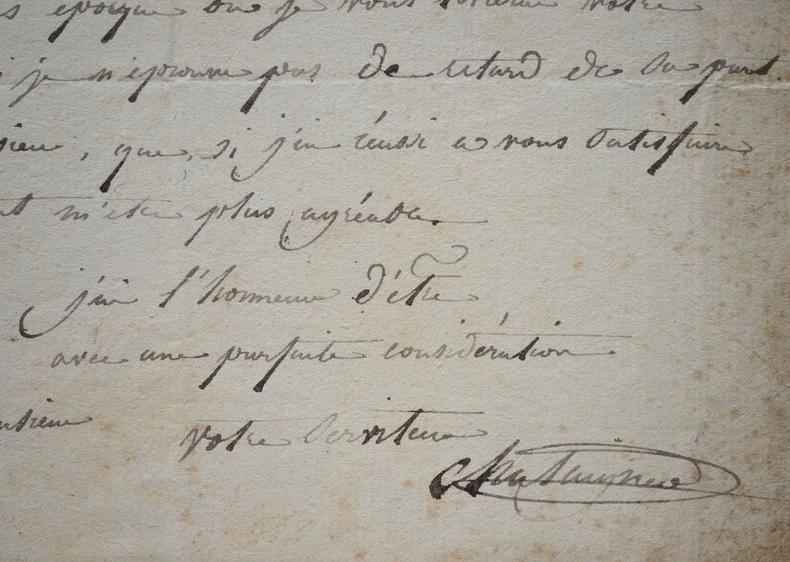 Alexis Chataigner présente sa gravure à son commanditaire.. Alexis Chataigner (1772-1817) Graveur, élève de François-Marie-Isidore Quervedo et Jean ...