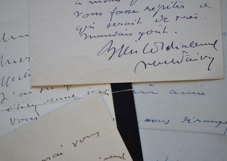 Correspondance de 5 lettres d'Abel Faivre à son amie la soprano Lucy Vauthrin.. Abel Faivre (1867-1945) Peintre et illustrateur, élève de Jules ...