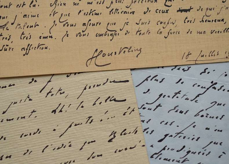 Belle correspondance de Courteline à Robert de Flers.. Georges Courteline (1858-1929) Romancier et dramaturge, il s'est beaucoup intéressé à ...