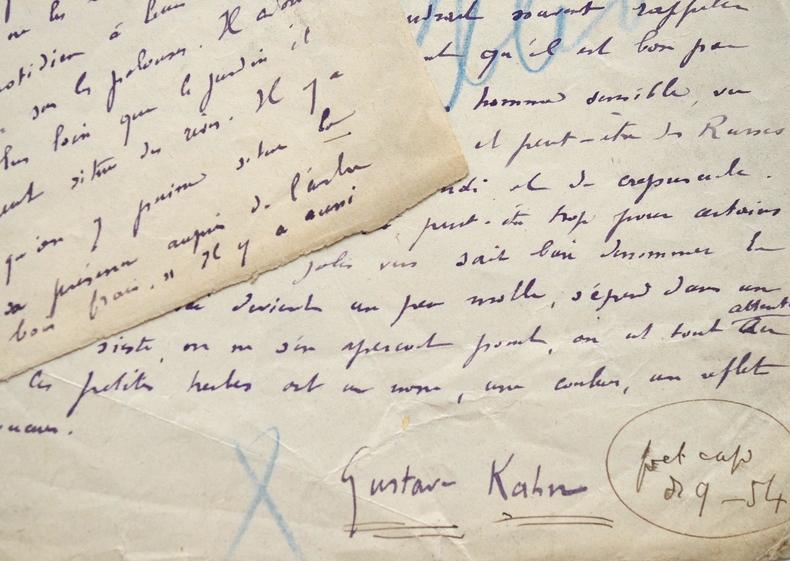Gustave Kahn fait la critique de Deuil des Primevères de Francis Jammes.. Gustave Kahn (1859-1936) Critique et poète symboliste, il est également ...