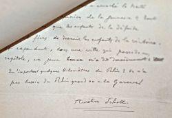 Manuscrit d'Aurélien Scholl sur la République paru dans le Mercure de France.. Aurélien Scholl (1833-1902) Journaliste et chroniqueur, il est ...
