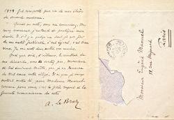 Anatole Le Braz sollicite sa promotion.. Anatole Le Braz (1859-1926) Nouvelliste, romancier et poète. Professeur, historien de la littérature et du ...
