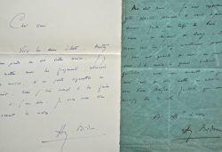 Longue correspondance de plus de 50 lettres d'Henry Bidou.. Henry Bidou (1873-1943) Romancier et chroniqueur à la Revue de Paris ; saint-cyrien, il ...