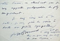 Abel Bonnard termine l'écriture de Méditerranée.. Abel Bonnard (1883-1945) Ecrivain. Membre de l'Académie française (1932).
