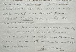 Le jeune cinéaste René Clair s'essaye au roman.. René Clair (1898-1981) Cinéaste, membre de l'Académie française. Il fut proche des Surréalistes et ...