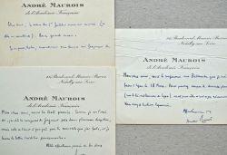 Correspondance littéraire de 29 lettres d'André Maurois.. André Maurois (1885-1967) Ecrivain. Académicien (1938).