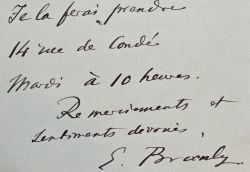 Branly veut assister à une conférence de Théodore Flournoy.. Edouard Branly (1844-1940) Inventeur du radio-conducteur qui permit la mise au point de ...