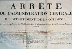 Affiche révolutionnaire règlementant la gendarmerie..