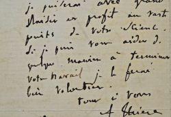 Thiers remercie l'égyptologue Prisse d'Avesnes pour l'envoi de son ouvrage.. Adolphe Thiers (1797-1877) Historien et homme d'Etat, président du ...