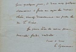 Très longue correspondance de l'historien Henri Gomont.. Henri Gomont (1815-1890) Historien, correspondant de l'Académie Stanislas de Nancy, il a ...