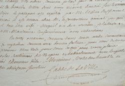 L'abbé de La Ville intervient auprès du duc de Choiseul.. Jean-Ignace La Ville (abbé de) (1702-1774) Diplomate, homme d'église et homme de lettres, il ...